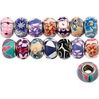 Pärlor Clay Charm Beads dia 14-11 mm 30 st