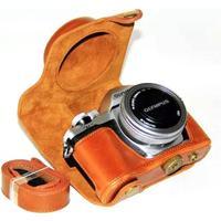 Olympus OM-D E-M10 Mark II / E-M10 PU leather protective case - Brown