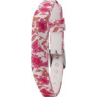 Fitbit Flex 2 erstatningsarmbånd i silicone - Pink sommerfugle og blomster