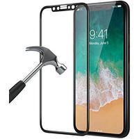iPhone X Panserglas- Gennemsigtig Displaybeskytter - Hærdet Displaybeskytter  Krystalklar Displaybeskytter 3D Curved Sort