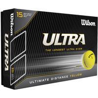Wilson Ultra Golf Yellow Balls (15 Ball Pack)
