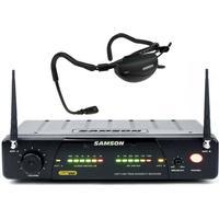 Ett 100% trådlöst headset för aerobics med driftgaranti 3 år - Samson CR77/AH1-QE - E1: 863,125 MHz