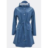 Rains Curve Raincoat Faded Blue