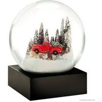 Snowglobe - Red truck with dog