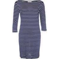 Barbour Wharf Dress, Navy, UK10