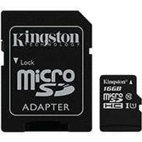 Micro SDHC Kort m/adapter 16GB (UHS-I Class 10) Kingston