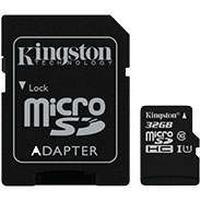 Micro SDHC Kort m/adapter 32GB (UHS-I Class 10) Kingston