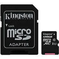 Micro SDXC Kort m/adapter 128GB (UHS-I Class 10) Kingston