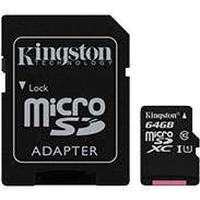 Micro SDXC Kort m/adapter 64GB (UHS-I Class 10) Kingston