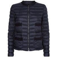 Onyx Frill Trim Down Jacket