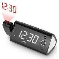 """Radioväckarklocka med LED-projektor SPC 4571B 1.2"""" FM Svart"""