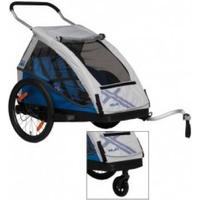 "XLC Bicycle-child-trailer XLC Mod. 2016 20"" Duo² blue two seater incl. Buggyrad"