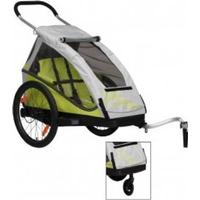 "XLC Bicycle-child-trailer XLC Mod. 2016 20"" Mono² lime incl. Buggyrad"