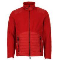 Moncler Grenoble Fleece Zip Jacket - Red