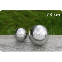 Pyntekugle af rustfrit stål til have eller dam 13 cm