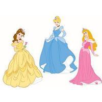 Wall sticker - Prinsesser - 3 stk - Disney - 3D effekt