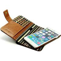 Alston Craig iPhone 7 / iPhone 8 Alston Craig Vintage RFID Läder Plånboksfodral - Brun
