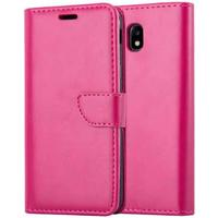 Samsung Galaxy J3 J330 (2017) TG Premium Flip Cover M.Pung Pink