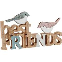 Transomnia Best Friends Wooden Words with Birds