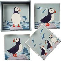 Transomnia Set of 4 Puffin Coasters