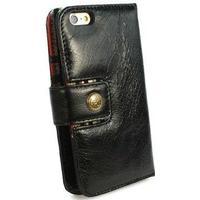 Alston Craig iPhone 6 / 6S Alston Craig Vintage Genuine Plånbok Läderfodral - Svart