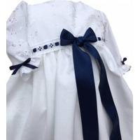 Dopklänning brodyr/eko bomull (Färg på bandet: Ljusrosa, Namnbrodyr: Ja, Storlek: 62/74 (standard), Tillval: extra uppsättning band: Vit, Ärmlängd: Långärmad)