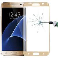 Samsung Galaxy S7 Edge G935F Panserglas- Gennemsigtig Displaybeskytter - Hærdet Displaybeskytter  Krystalklar Displaybeskytter 3D Curved Gold