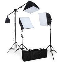 3 Studielamper inklusiv pærer + softbox