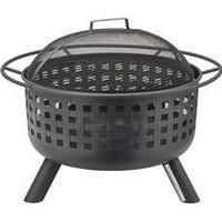 Memphis Eldstad med Gnistskydd, Häftig eldstad där grillgaller medföljer, kan alltså även användas som öppen grill. Inbygggt gnistskydd både på lock och skål.