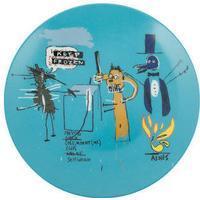 Jean-Michel Basquiat 'Keep Frozen' Plate
