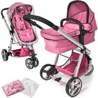TecTake Barnvagn 3-hjulig rosa