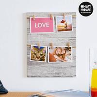 Oh My Home Fotoramme med klemmer (4 foto)