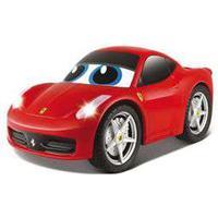 Ferrari fjernstyret bil - My First RC - Rød Sej Ferrari med lys og lyd og fjernbetjening formet som rat