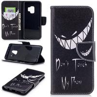 """Samsung Galaxy S9 Cover m. Pung Scary Smile """"Don't Touch My Phone"""""""
