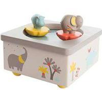 Moulin Roty spilledåse med roterende elefant og flodhest