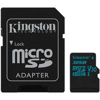 Kingston 32GB microSDHC Canvas Go 90R/45W U3 UHS-I V30 + SD Adapter