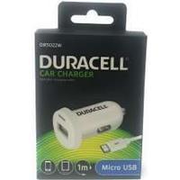 Duracell Bil-Lader/Adapter med Micro-USB 2,4A Hvid til HTC T-Mobile myTouch2