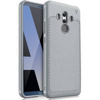 Huawei Mate 10 Pro IVSO TPU Cover Med Læderoverflade - Grå