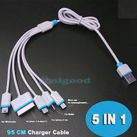 5 i 1 multi usb telefonladare kabel htc samsung sony xiaomi hua
