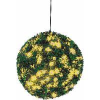 EUROPALMS Boxwood ball with yellow LEDs, 40cm