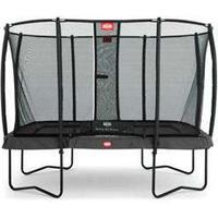 Berg trampolin med net - Eazyfit - 220 x 330 cm Optimal hoppeoplevelse - Inkl Deluxe sikkerhedsnet og Twinspringfjedre