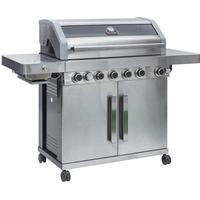 Grillstream Gourmet 6 Burner Gas BBQ (Stainless Steel)