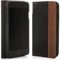 Woodcessories - iPhone Xs / X Flip Case EcoWallet - Walnut / Black