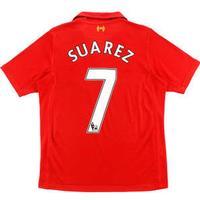 Warrior Liverpool FC Home Jersey 12/13 Suarez 7. Sr