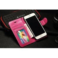 Iphone 7 - exklusiv mobilplånbok (hot pink)