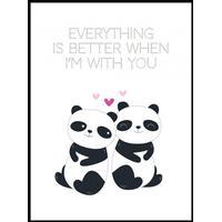 Panda plakat - Better with You