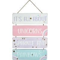 Transomnia It's All About Unicorns Sparkle Sign