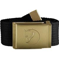 Fjällräven Canvas Brass Belt Unisex - Black