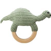 Sebra Crochet Rattle Dino on Ring
