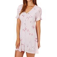 Women's The Hidden Way Dresses - The Hidden Way Marni Floral Button Dress - Pink